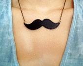 Moustache Necklace