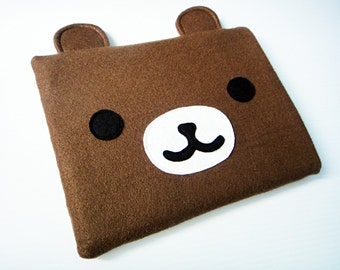 Felt iPad Sleeve / Case - Brown Bear