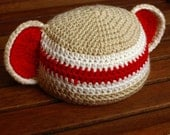 2 Sock Monkey Baby Hats