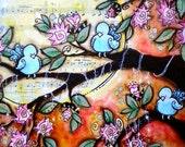 Sunset Trio 8 x 10 print, by mixed media artist Kelly Lish