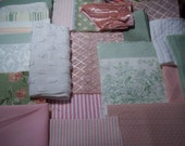 Bundle of Green and Pink ....Fabric pcs for Baby...