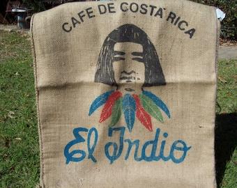 3 Costa Rica Coffee Bean Bags....El Indio....Indian