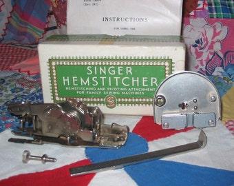 Vintage Singer Hemstitcher 221 Featherweight Rare Complete Featherweight