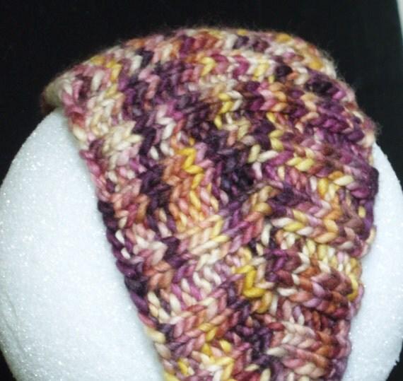Purple and Yellow Knit Headband - SALE 8.75 (Orig 17.50)