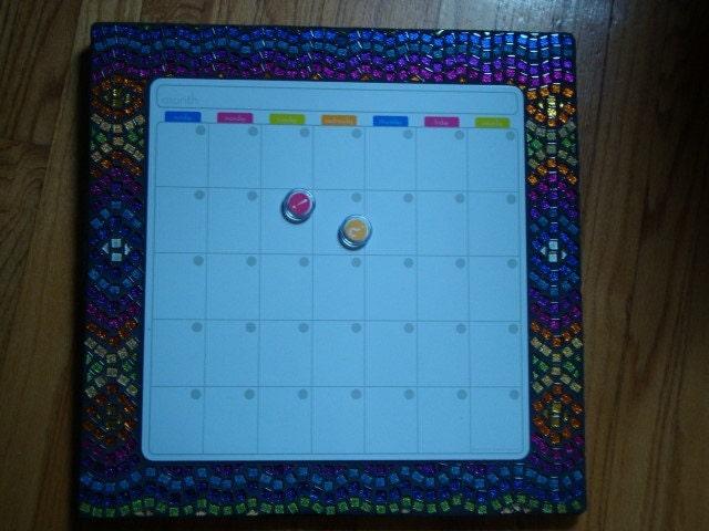 Dry Erase Calendar Canada : Mosaic dry erase magnetic calendar