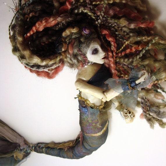 Mermaid Queen Fideal - Art Doll - OOAK