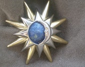 Vintage Sun and Moon Pin -Sale was 17.50