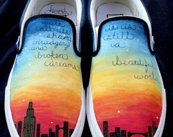 Custom Vans-- City Scape Chicago