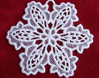 Snowflake Lace Christmas Ornament