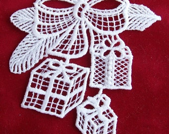 Christmas Presents Lace Ornament