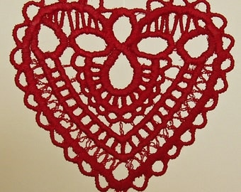 VALENTINE Lace Heart Embroidered - No. 5