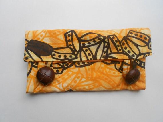 Hand silk screened wallet