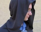 Grey draping cloak