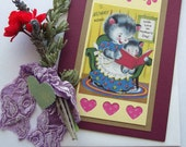 "Mother's Day Card, ""To Mommy xoxo With Love on Mother's Day"", Retro, Vintage made with love Maddabling"