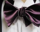 Reserved for Nicholas Eggplant Bow Tie wedding set