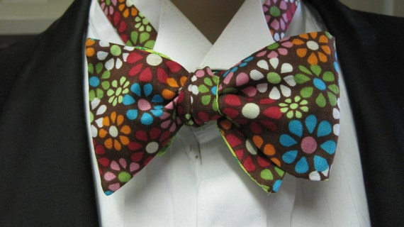 Reversible Flower Bow Tie