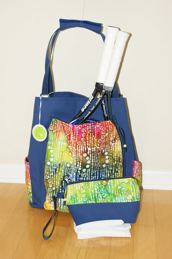 Large Tennis or Yoga Bag and Small Accessory Bag -Clerance Price 40% off !