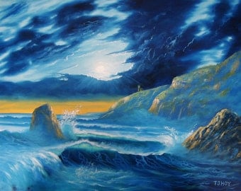 Sea And Waves After The Storm - original, prints, framed prints and greeting cards