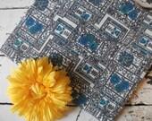 Beautiful Blue Vintage Fabric - 1 Yard