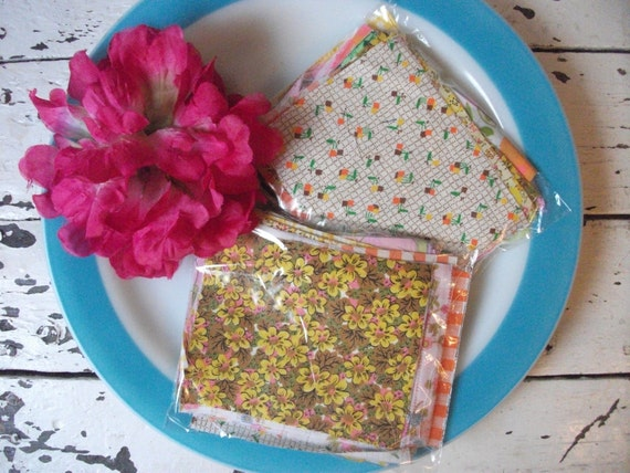 Vintage Scrap Fabric Pieces - Calico And Ginghams
