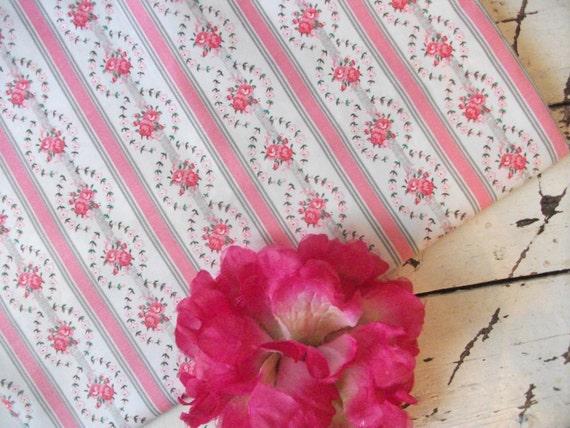 Vintage Fabric - 1 1/2 Yards - Shabby Roses