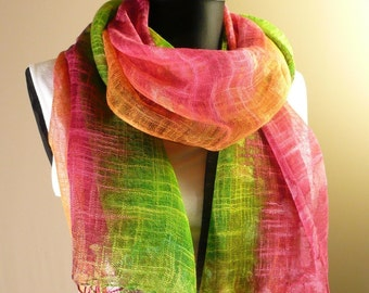 Hand Woven and Hand Dyed, Pure Cotton Batik Shawl