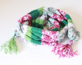 Green ,Pink ,White Shawl ,Scarf