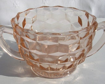 Jeannette Depression Glass Sugar Bowl