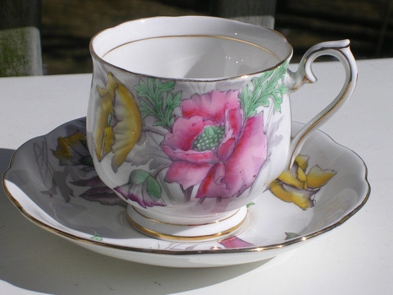Reserved for Bonnie Royal Albert Poppy Bone Cup Saucer