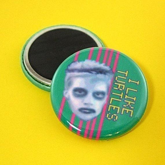 I Like Turtles Zombie Boy Magnet - 1.25 Inch