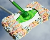 Custom LIsting for Pat :  Swiffer Cover with Baseboard Dusters in Ecru