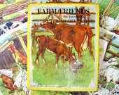 6 Vintage Farm Friends Pets Puzzles Set In Box