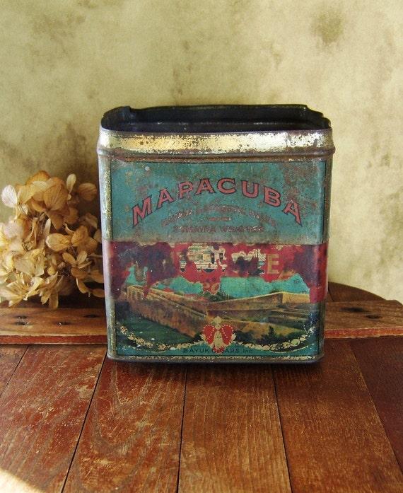 Vintage MAPACUBA Cigar Tin