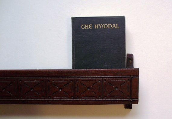 Antique Eastlake Church Pew Hymnal Rack