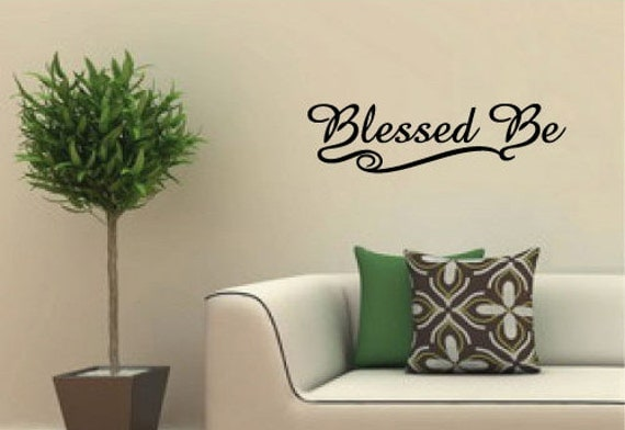 Blessed Be Pagan Wiccan Vinyl Wall Art Decal By Arwendesigns