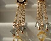Rose Gold Shimmer Earrings