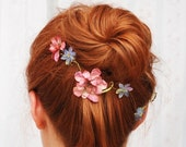 Blossom and bloom - a tiny floral vine bobby pin