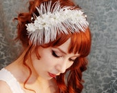 Once upon a dream - ivory feather and lily of the valley headband