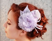 Lullaby - pastel lilac millinery clip - SALE