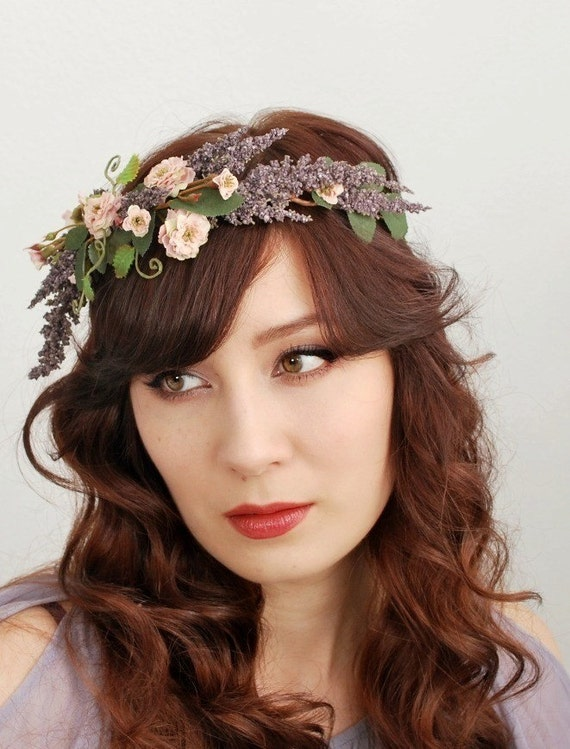 Gypsy rose - a wild rose and lavender crown