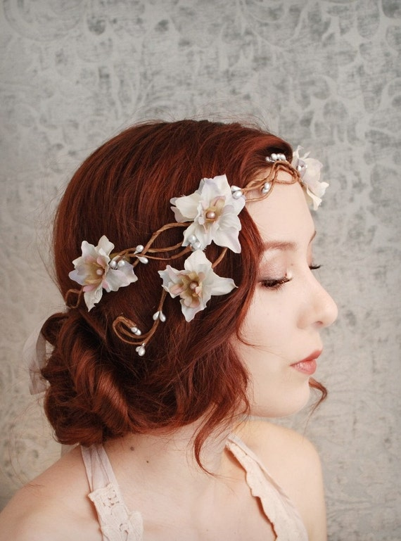Smoke and mirrors - a floral flapper crown - Last one