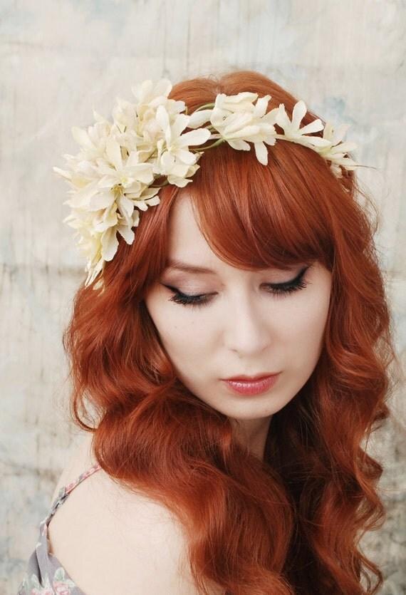 Arabella's crown - ivory floral headband