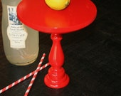 Red Cake Stand. Small/Tall Size