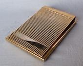 Art Deco Goldtone Metal Notepad Holder