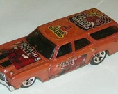 Chicago Bulls Hot Wheels '70 Chevelle SS Wagon Custom NBA Diecast Car