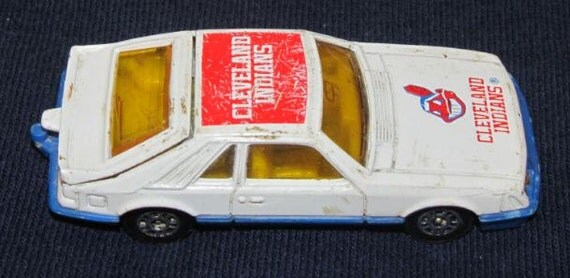 Cleveland Indians 1982 Corgi Diecast Car Ford Mustang 1 64 Scale MLB Baseball Collectible