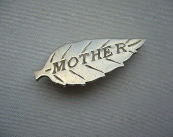 Vintage Mother Sterling Silver Brooch