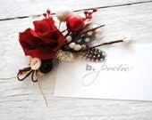 B. Poetic Boutonniere in Red