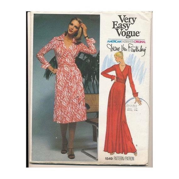 Diane Von Furstenberg Wrap Dress Uncut By Persnicketyvintage