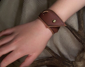 Braided   Leather  Wristband small